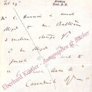Darwin, Charles, Naturforscher, Begründer der modernen Abstammungslehre (1809-1882).