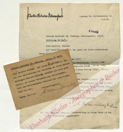 Beheim-Schwarzbach, Martin, Schriftsteller (1900-1985).