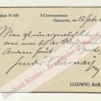 Barnay, Ludwig, Schauspieler (1842-1924).