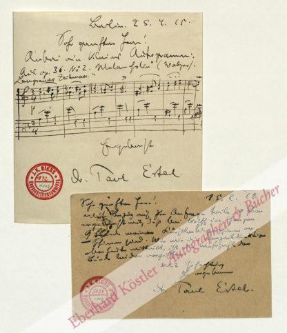 Ertel, Jean Paul, Komponist, Schüler Liszts (1865-1933).