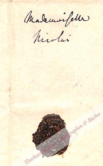 Zelter, Carl Friedrich, Komponist und Dirigent (1758-1832).