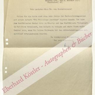 Plenge, Johann, Soziologe, Volkswirt und Propagandaforscher (1874-1963).