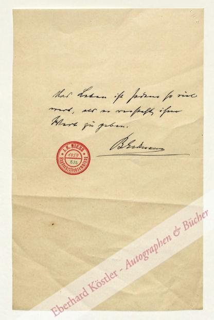 Erdmann, Benno, Philosoph (1851-1921).