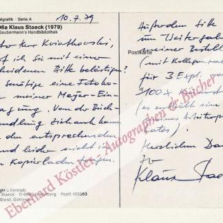 Staeck, Klaus, Grafiker (geb. 1938).