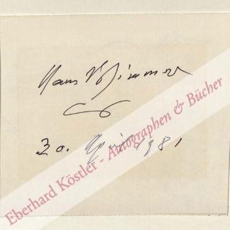 Wimmer, Hans, Bildhauer (1907-1992).