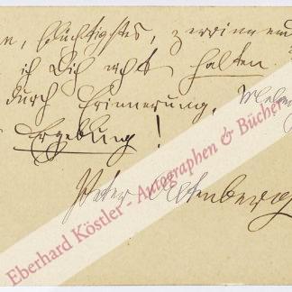 Altenberg, Peter, Schriftsteller (1859-1919).