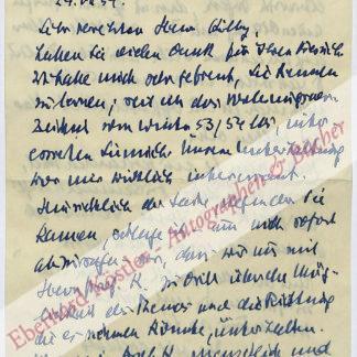 Benn, Gottfried, Schriftsteller (1886-1956).