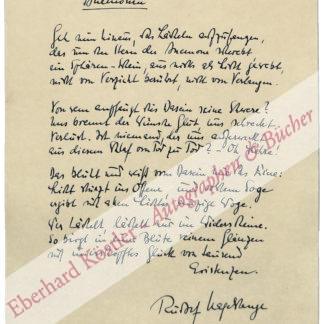 Hagelstange, Rudolf, Schriftsteller (1912-1984).