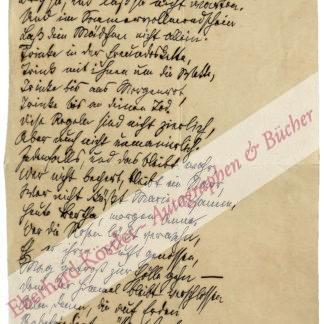 Liliencron, Detlev von, Schriftsteller (1844-1909).