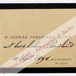 Meyer, Conrad Ferdinand, Schriftsteller (1825-1898).
