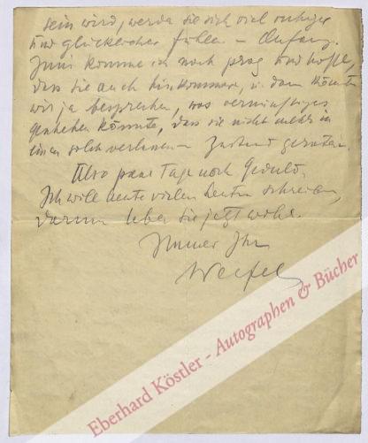 Werfel, Franz, Schriftsteller (1890-1945).