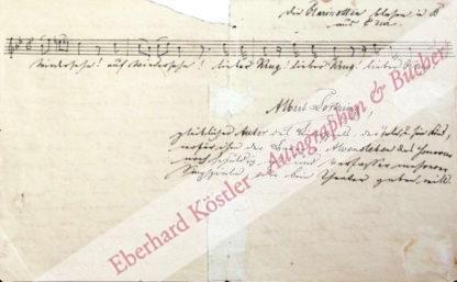 Lortzing, Albert, Komponist (1801-1851).