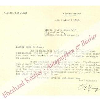 Jung, Carl Gustav, Psychoanalytiker (1875-1961).