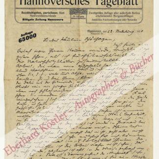 Löns, Hermann, Dichter und Naturschützer (1866-1914).