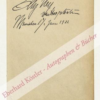Ney, Elly, Pianistin (1882-1968).