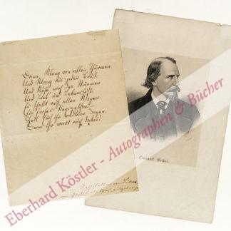 Geibel, Emanuel, Schriftsteller (1815-1884).