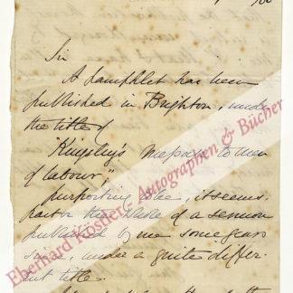 Kingsley, Charles, Schriftsteller (1819-1875).