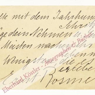 Bernstein, Elsa (geb. Porges; Pseud. Ernst Rosmer), Schriftstellerin und Schauspielerin (1866-1949).