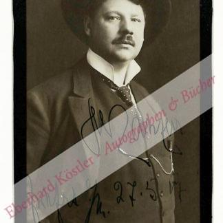 Slezak, Leo, Sänger und Schauspieler (1873-1946).