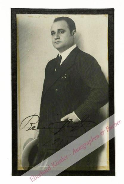 Gigli, Beniamino, Opernsänger und Filmschauspieler (1890-1957).