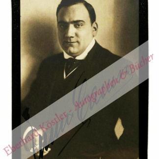 Caruso, Enrico, Sänger (1873-1921).