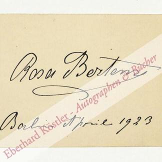 Bertens, Rosa, Schauspielerin (1860-1934).