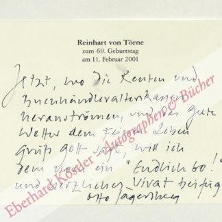 Jägersberg, Otto, Schriftsteller (geb. 1942).