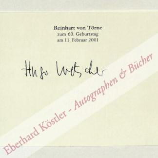 Loetscher, Hugo, Schriftsteller (1929-2009).