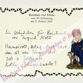 Noll, Ingrid, Schriftstellerin (geb. 1935).