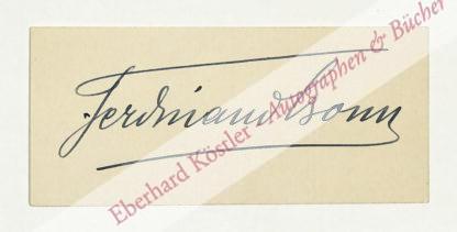 Bonn, Ferdinand, Schauspieler und Schriftsteller (1861-1933).