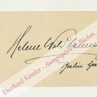 Wildbrunn, Helene, Opernsängerin (1882-1972).