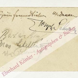 Schillings, Max von, Komponist, Dirigent und Theaterintendant (1868-1933).