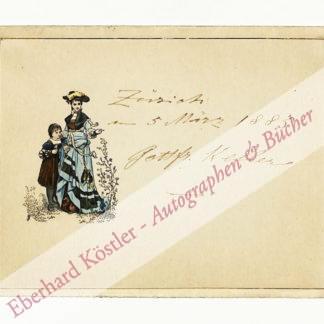 Keller, Gottfried, Schriftsteller (1819-1890).