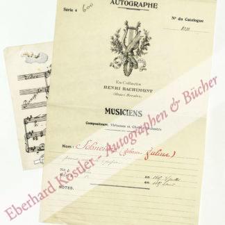Schneider, Julius, Komponist und Dirigent (1809-1889).