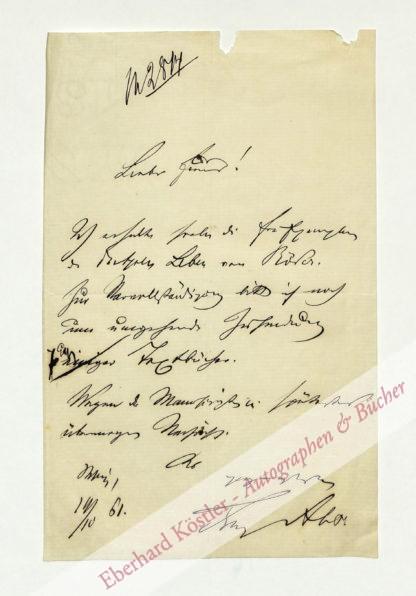 Abt, Franz, Komponist (1819-1885).