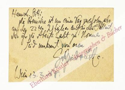 Einem, Gottfried von, Komponist (1918-1996).