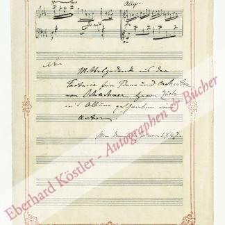 Schachner, Rudolph Joseph, Komponist und Pianist (1816-1896).
