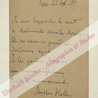 Heller, Stephen, Pianist und Komponist (1813-1888).