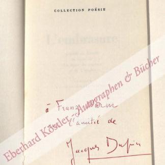 Dupin, Jacques, Schriftsteller und Kunstkritiker (1927-2012).