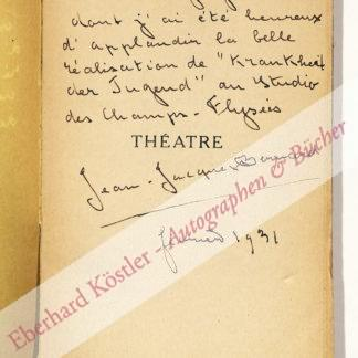 Bernard, Jean-Jacques, Schriftsteller (1888-1972).