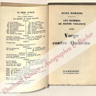 Romains, Jules, Schriftsteller (1885-1972).