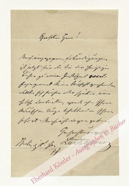 Dessoir, Ludwig, Schauspieler (1810-1874).