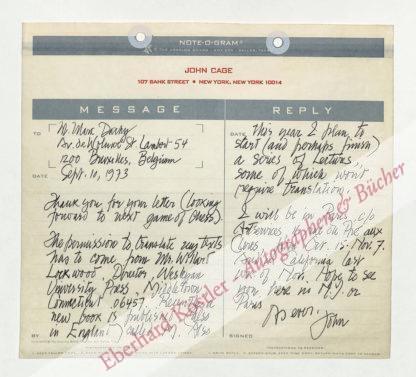 Cage, John, Komponist (1912-1992).