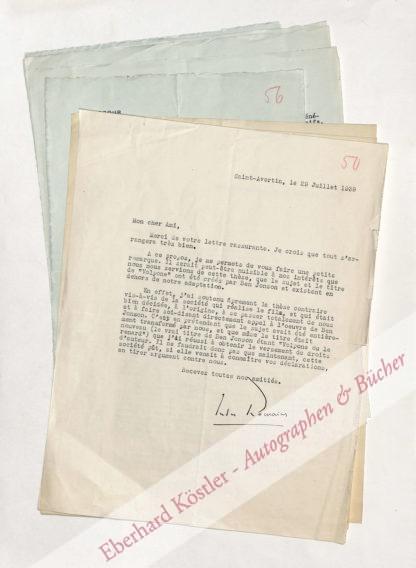 Zweig, Stefan -  Romains, Jules, Schriftsteller (1885-1972).