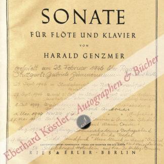 Genzmer, Harald, Komponist (1909-2007).