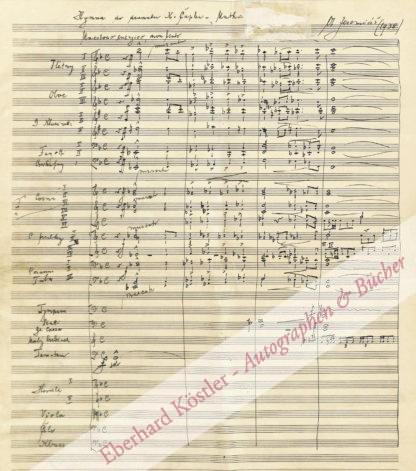 Jeremias, Otakar, Komponist (1892-1962).