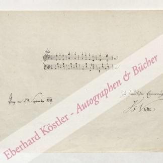 Kittl, Johann Friedrich (Jan Bedrich), Komponist (1806-1868).