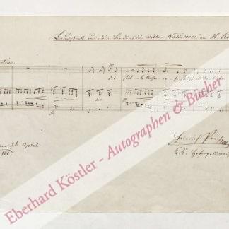 Proch, Heinrich, Komponist (1809-1878).