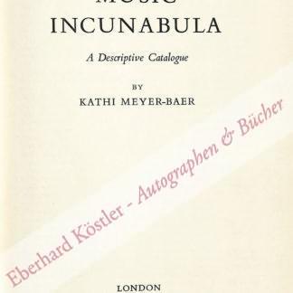 Meyer-Baer, Kathi, Musikhistorikerin (1892-1977).