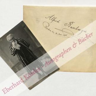 Bauberger, Alfred, Sänger (1866-1937).